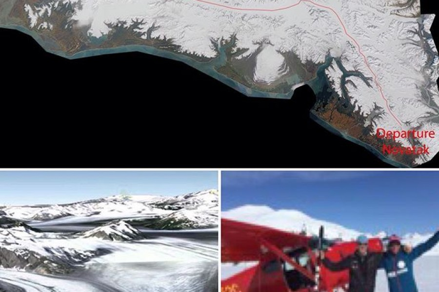 Novatak glacier : start of the Alpina x IceLegacy St Elias expedition